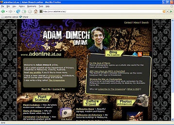 Adam Dimech's new-look website