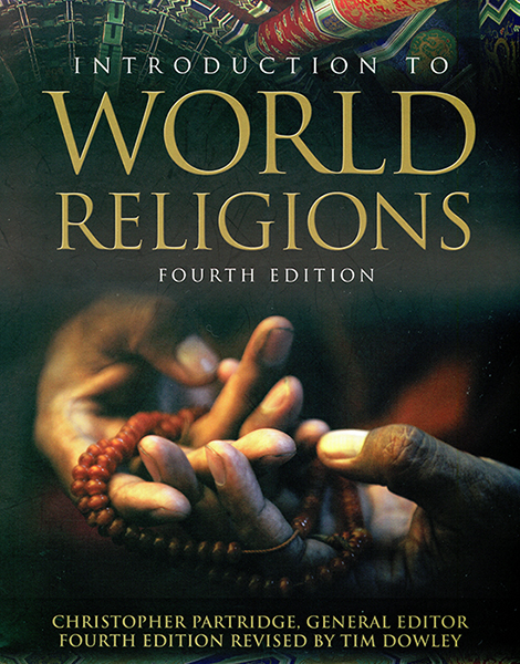 The cover for Christopher H. Partridge's Introduction to World Religions.