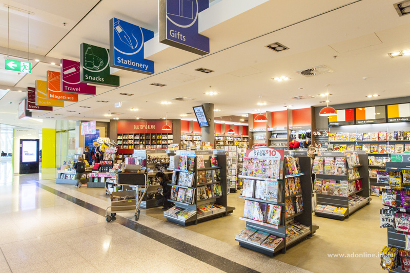 A newsagency at Canberra Airport.