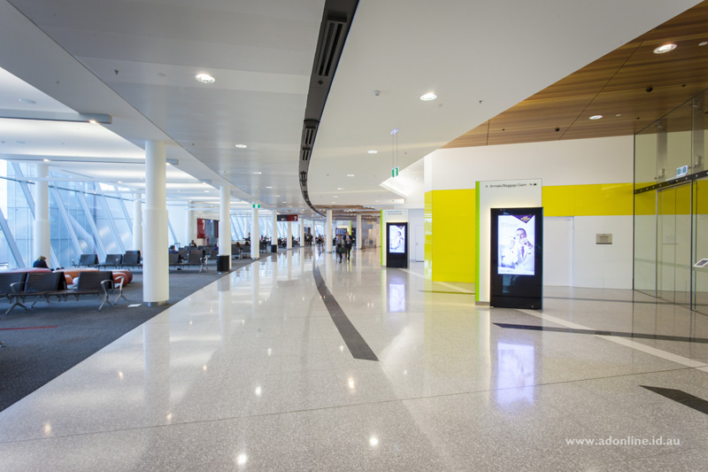 Large clean open spaces give Canberra Airport a comfortable feeling.