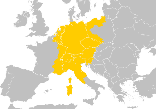 Map of the Holy Roman Empire.