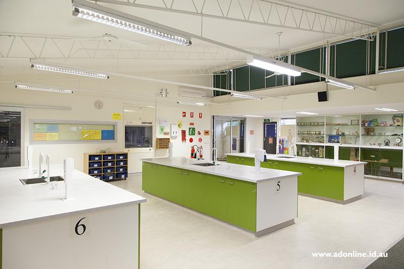 Interior of science classroom