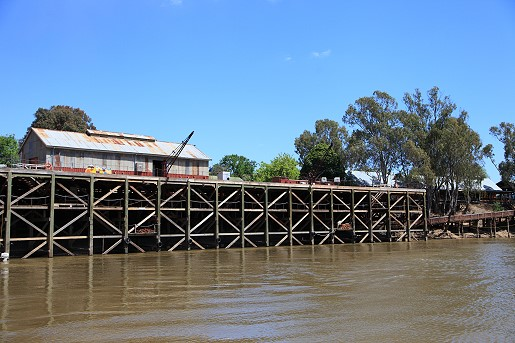 Echuca's historic wharf. Built in 1865, the structure was rebuilt in 2012.