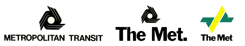 "Three corporate logos for ""The Met"""