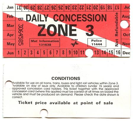 Paper rail ticket