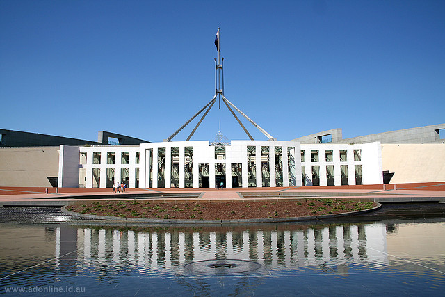 Pariament house in Canberra