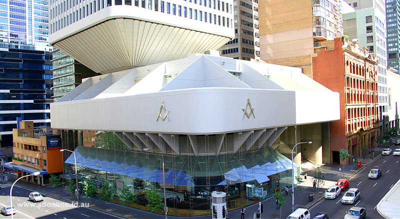 Exterior view of the Sydney Masonic Centre.