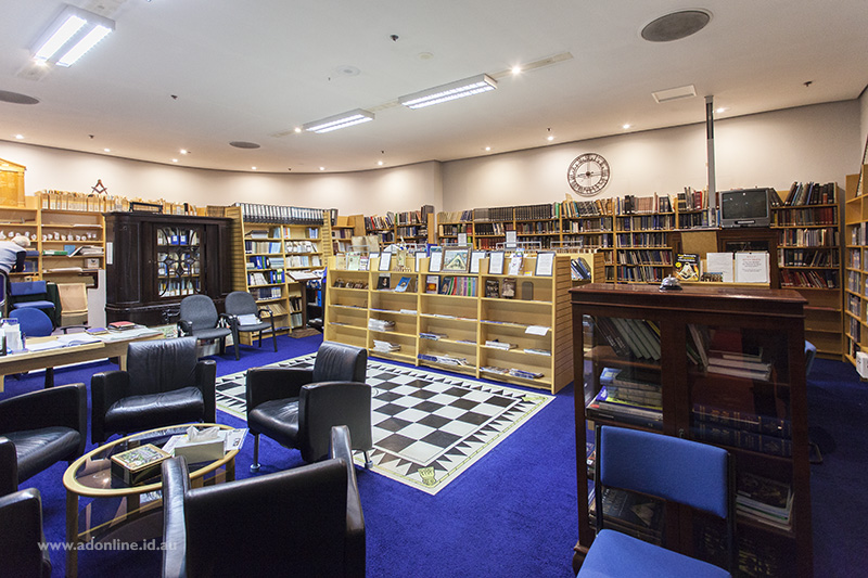 The Sydney Masonic Centre library.