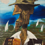 Albert Tucker's painting 'The Lucky Country' (1964)