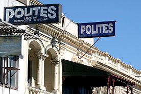 Polites signs in Adelaide